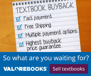 Valore Books Textbook Buyback Store
