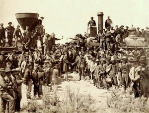 Golden Spike Ceremony - Transcontinental Railroad - Photo by Andrew J. Russell